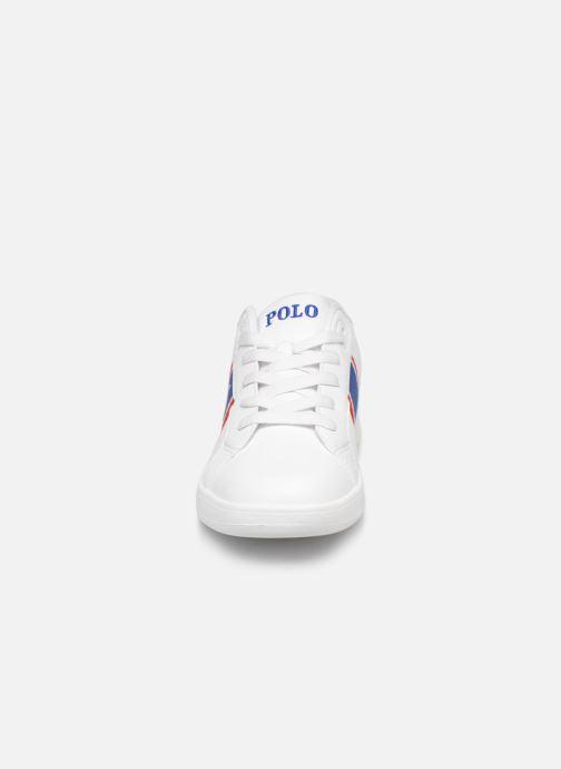 Baskets Polo Ralph Lauren Quigley Blanc vue portées chaussures