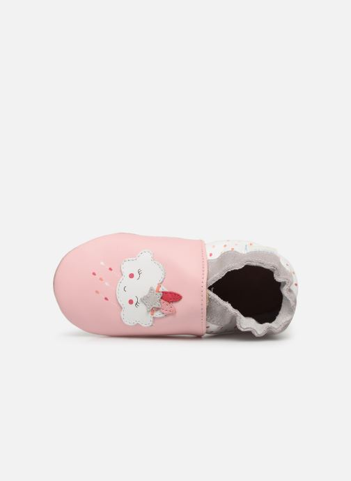 Pantoffels Robeez Cotton Cloud Roze links