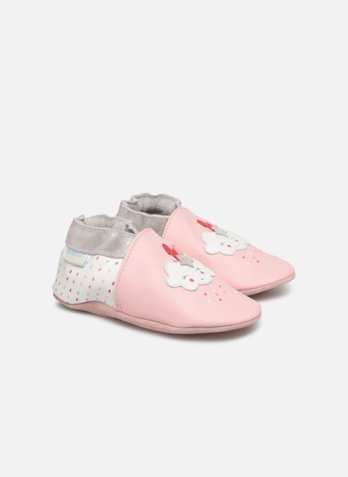 Pantoffels Robeez Cotton Cloud Roze detail