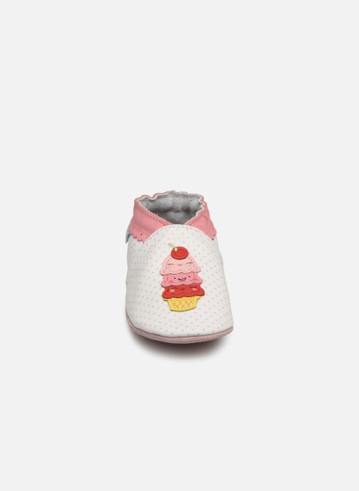 Chaussons Robeez Holiday's Ice Blanc vue portées chaussures