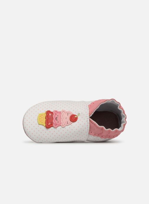 Chaussons Robeez Holiday's Ice Blanc vue gauche