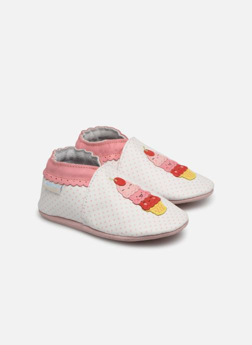 Chaussons Robeez Holiday's Ice Blanc vue détail/paire
