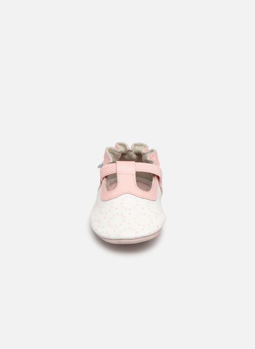 Pantoffels Robeez Tiny Love Wit model