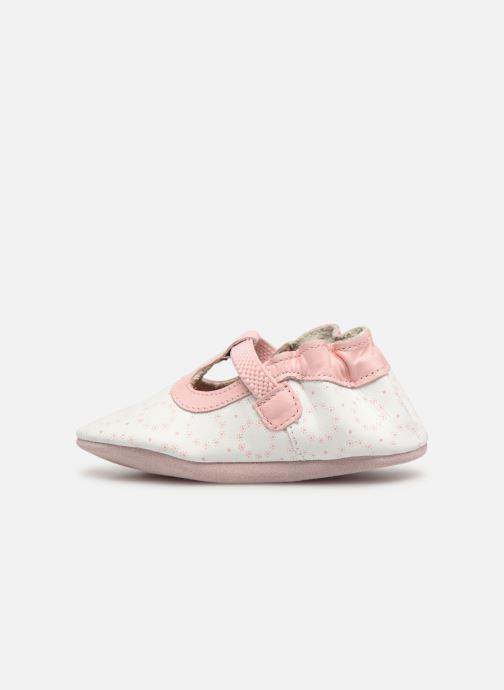 Chaussons Robeez Tiny Love Blanc vue face