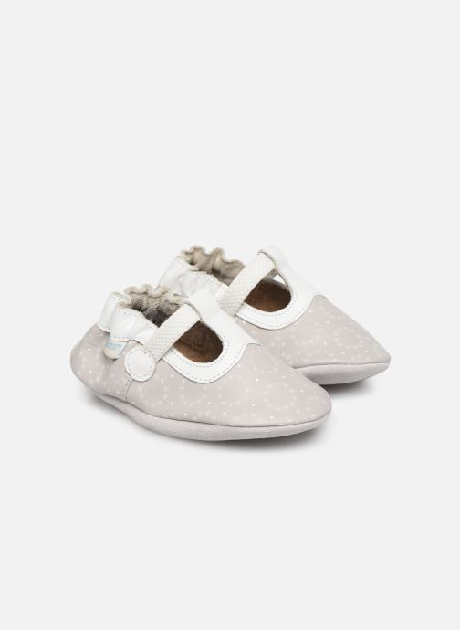 Slippers Robeez Tiny Love Grey detailed view/ Pair view