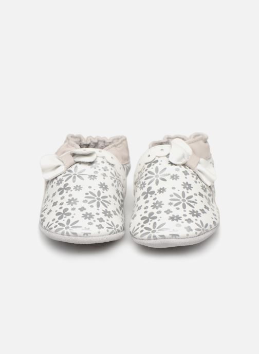 Chaussons Robeez Baby Girl Blanc vue portées chaussures