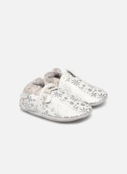 Chaussons Robeez Baby Girl Blanc vue détail/paire
