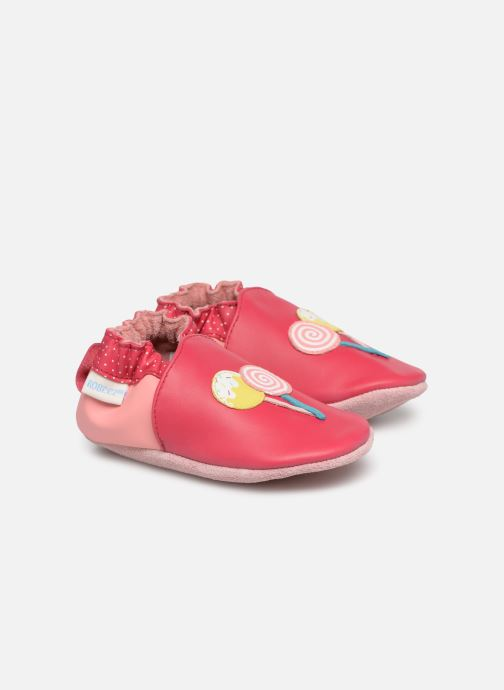Chaussons Robeez Funny Sweets Rouge vue détail/paire