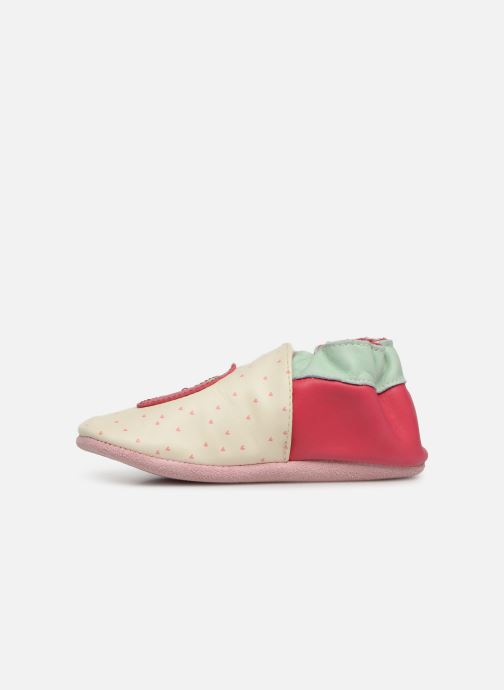 Chaussons Robeez With Love Blanc vue face