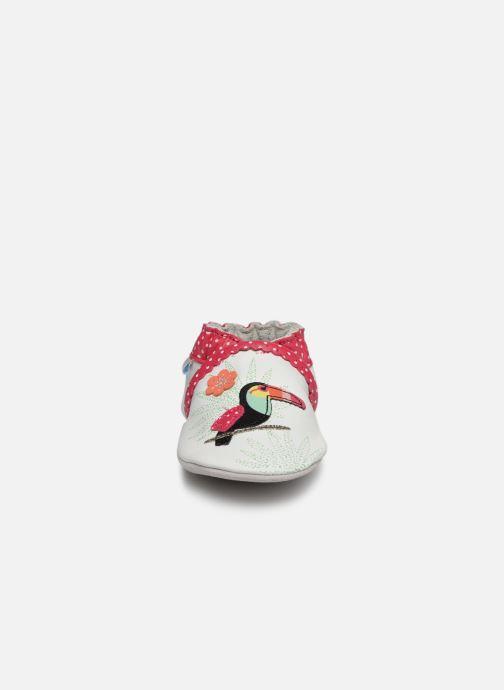 Chaussons Robeez Tropical Toucan Blanc vue portées chaussures