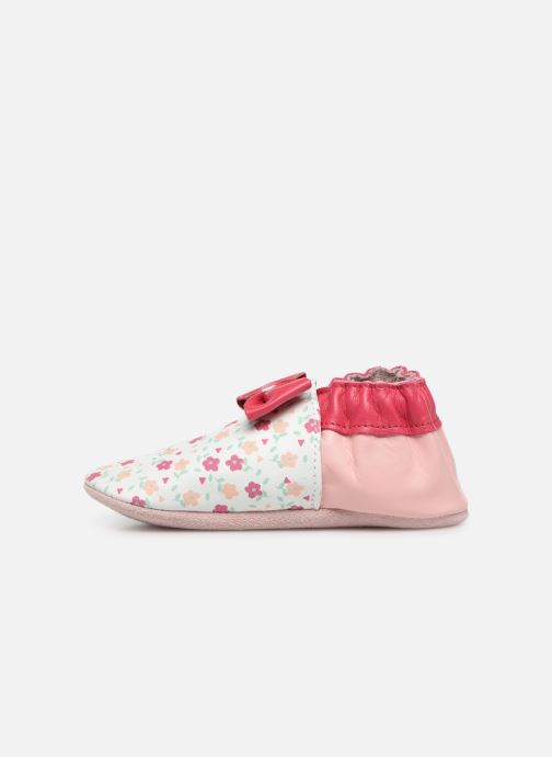 Chaussons Robeez Flowery Blanc vue face