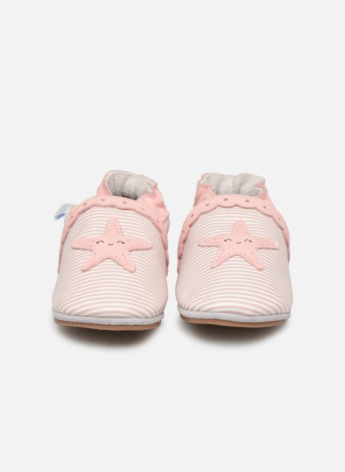 Chaussons Robeez Sunny Day Rose vue portées chaussures