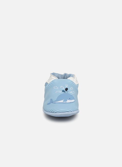 Chaussons Robeez Funny Calf Bleu vue portées chaussures