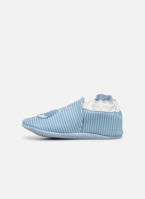 Chaussons Robeez Funny Calf Bleu vue face