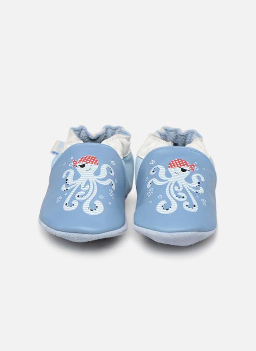 Chaussons Robeez Octopus Bleu vue portées chaussures