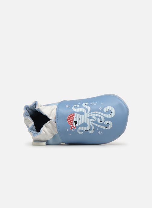 Chaussons Robeez Octopus Bleu vue gauche