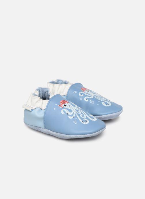 Chaussons Robeez Octopus Bleu vue détail/paire