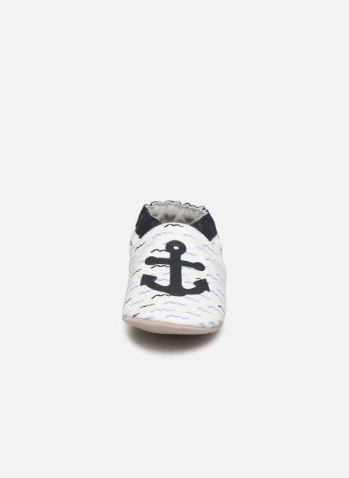 Chaussons Robeez On Board Blanc vue portées chaussures