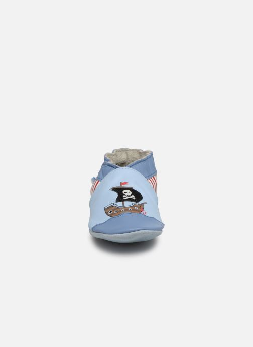 Chaussons Robeez Pirate's Boat Bleu vue portées chaussures