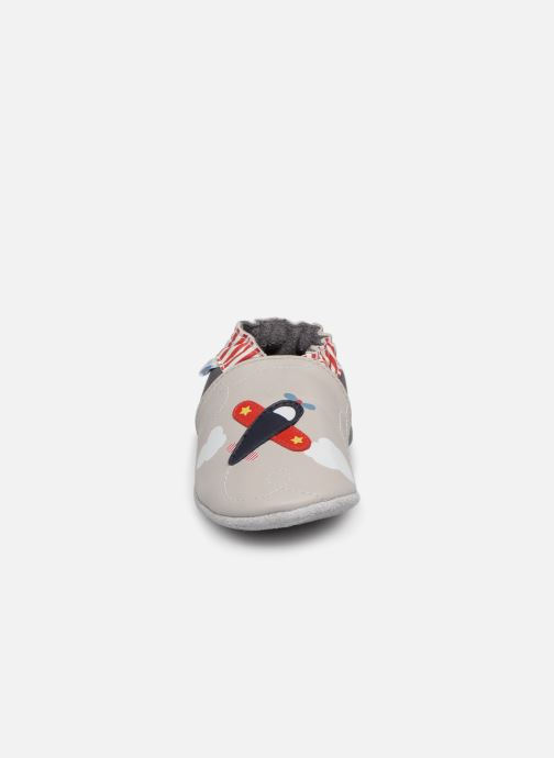 Chaussons Robeez Looping Gris vue portées chaussures