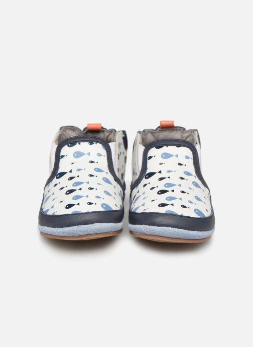 Chaussons Robeez Fishy Boy Bleu vue portées chaussures