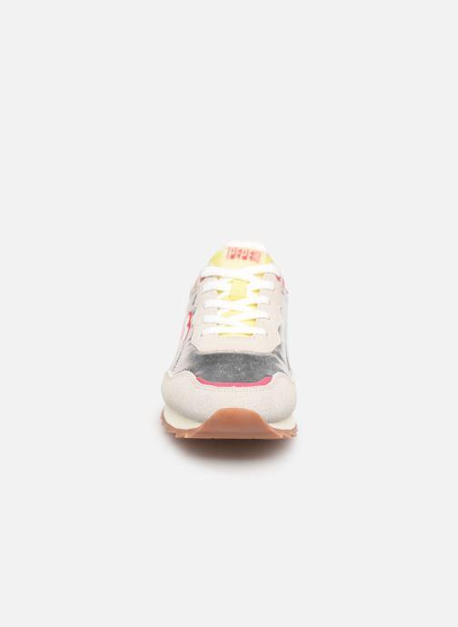 Baskets Pepe jeans Belle Metal Argent vue portées chaussures