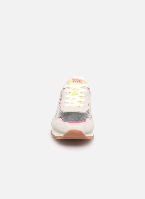 Trainers Pepe jeans Belle Metal Silver model view