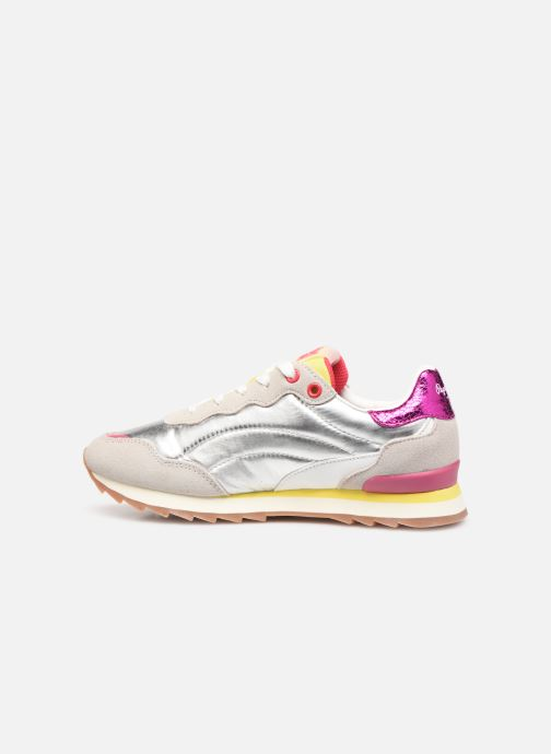 Trainers Pepe jeans Belle Metal Silver front view