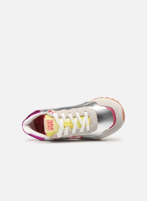 Trainers Pepe jeans Belle Metal Silver view from the left