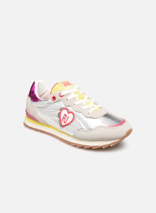 Trainers Pepe jeans Belle Metal Silver detailed view/ Pair view