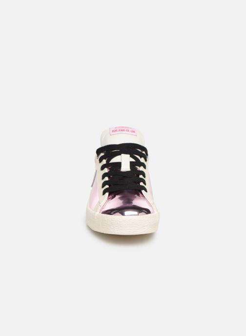 Baskets Pepe jeans Portobello Mirror Girl Rose vue portées chaussures
