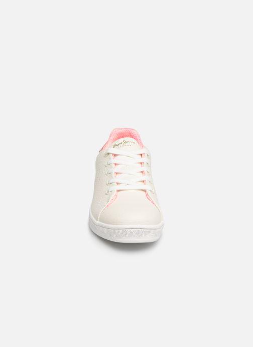 Baskets Pepe jeans Bromptom Basic Girl Blanc vue portées chaussures