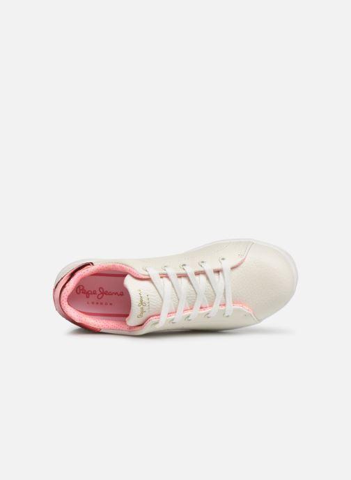 Baskets Pepe jeans Bromptom Basic Girl Blanc vue gauche