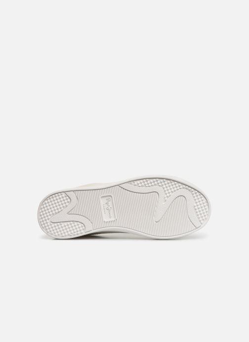 Baskets Pepe jeans Bromptom Basic Girl Blanc vue haut