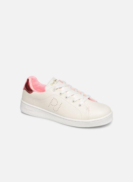 Baskets Pepe jeans Bromptom Basic Girl Blanc vue détail/paire