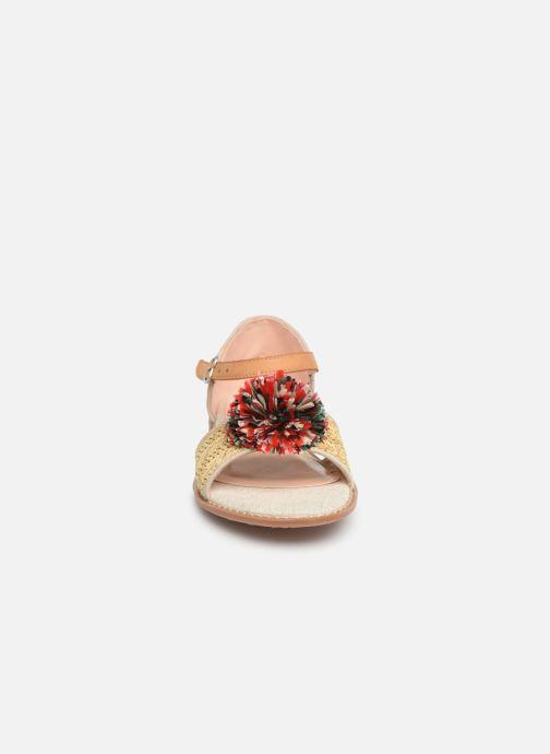 Sandales et nu-pieds Pepe jeans Elsa Rafia Beige vue portées chaussures
