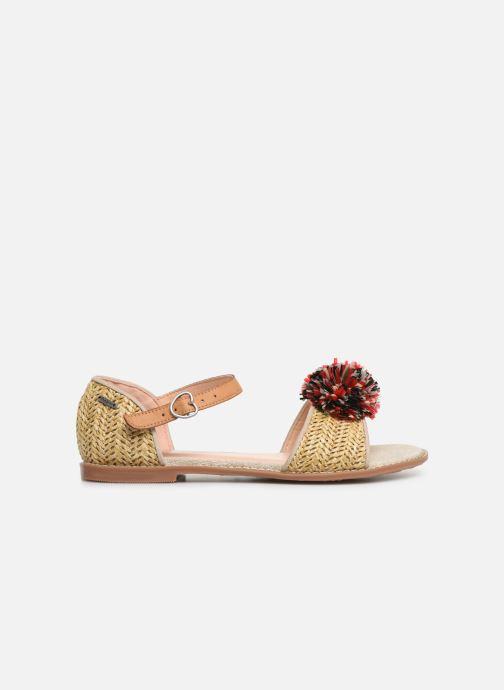 Sandales et nu-pieds Pepe jeans Elsa Rafia Beige vue derrière