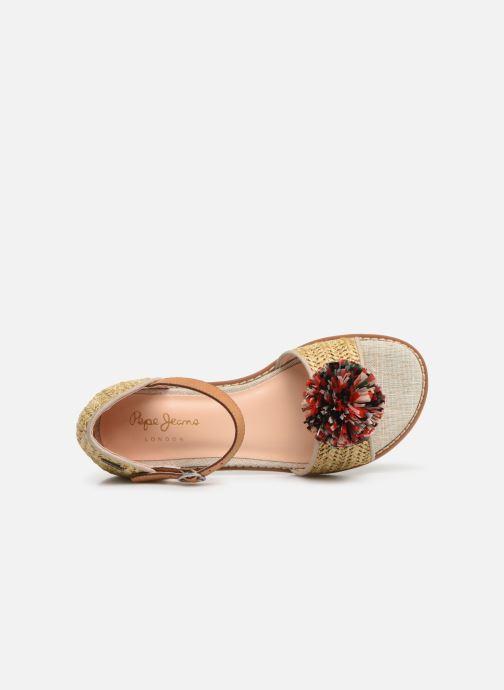 Sandales et nu-pieds Pepe jeans Elsa Rafia Beige vue gauche