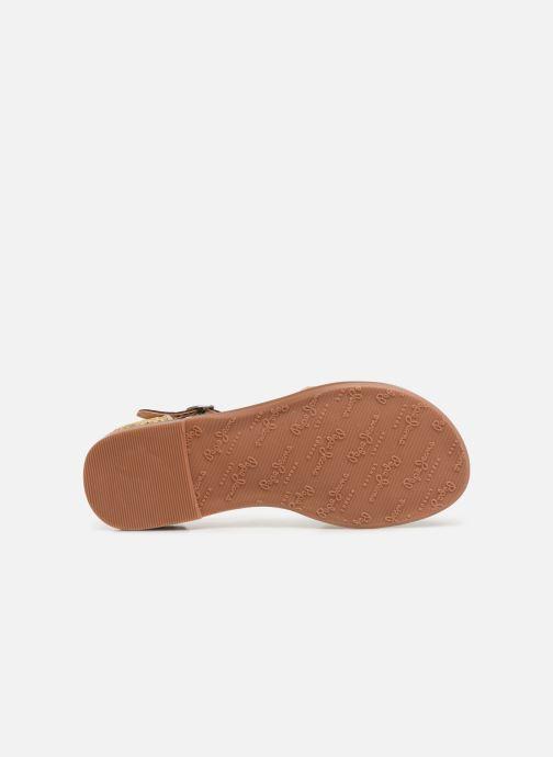 Sandales et nu-pieds Pepe jeans Elsa Rafia Beige vue haut