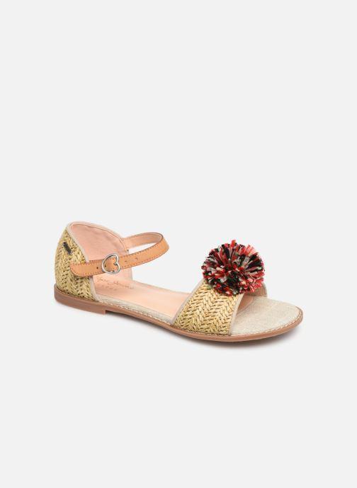 Sandales et nu-pieds Pepe jeans Elsa Rafia Beige vue détail/paire