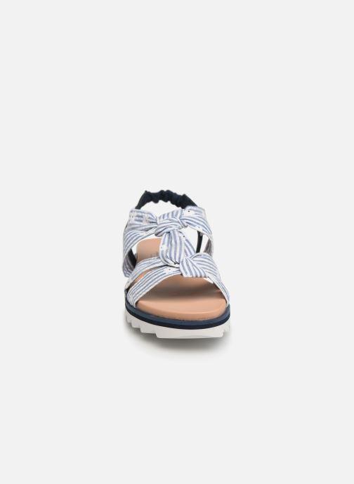 Sandales et nu-pieds Pepe jeans Zoe Flowers Bleu vue portées chaussures