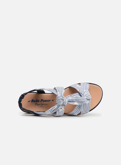 Sandales et nu-pieds Pepe jeans Zoe Flowers Bleu vue gauche