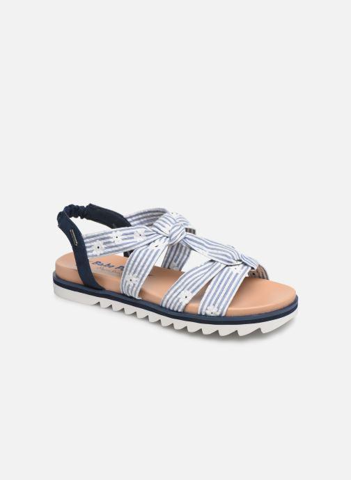 Sandales et nu-pieds Pepe jeans Zoe Flowers Bleu vue détail/paire