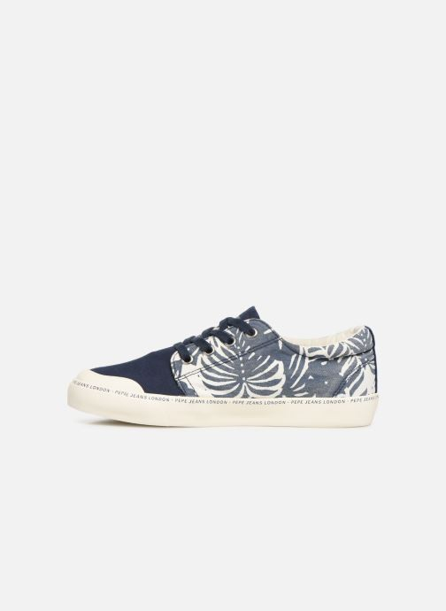 Baskets Pepe jeans Traveller Tropic Bleu vue face