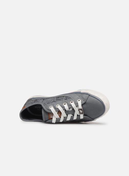 Sneaker Mustang shoes Apolline blau ansicht von links