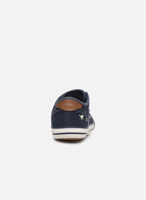 Sneaker Mustang shoes Kevin blau ansicht von rechts