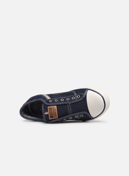Sneaker Mustang shoes Kevin blau ansicht von links
