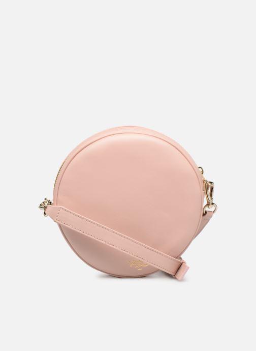 Handbags Louvreuse KASIMIR MINI LEATHER Pink front view