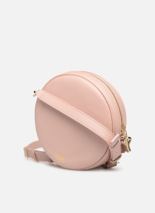 Handbags Louvreuse KASIMIR MINI LEATHER Pink view from the right