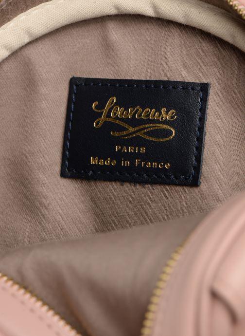 Handbags Louvreuse KASIMIR MINI LEATHER Pink back view